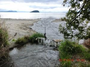 Mini Linear turbine test Lake Taupo New Zealand 22 February 2014